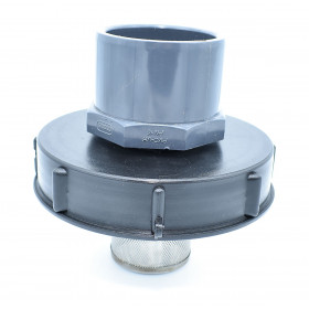 Lid 15cm for 1000L tank with 75/90 PVC inlet and 2 inch filter