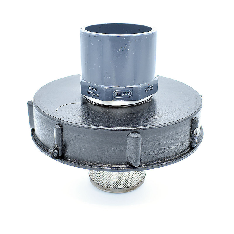 Lid 15cm for 1000L tank with 50/63 PVC inlet and 2 inch filter