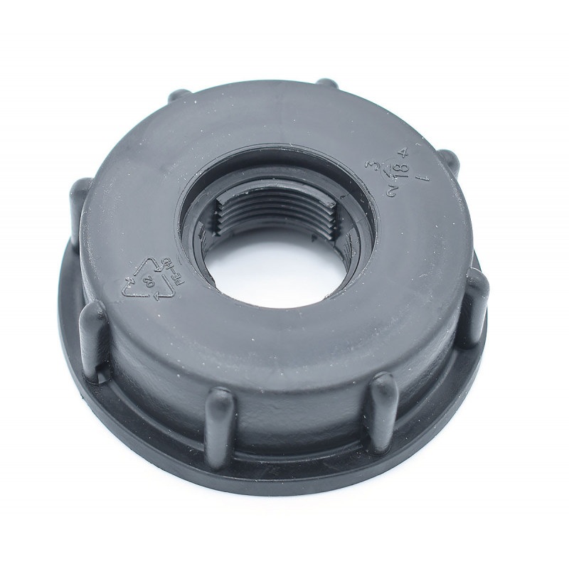 "Plug female 2 ""S60x6 - tapped 3/4"" step gas"
