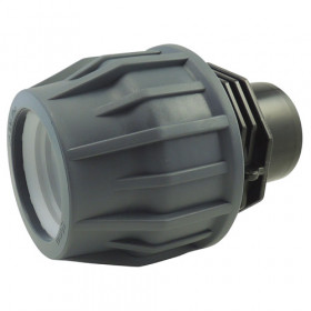 Male stick compression adapter for pool hose