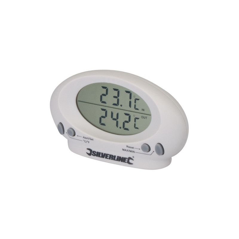 Indoor / outdoor thermometer -50 ° C to + 70 ° C silverline 675133