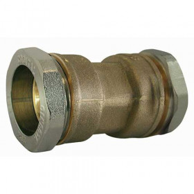 Brass compression coupling sleeve for PE pipe to steel pipe dimensions