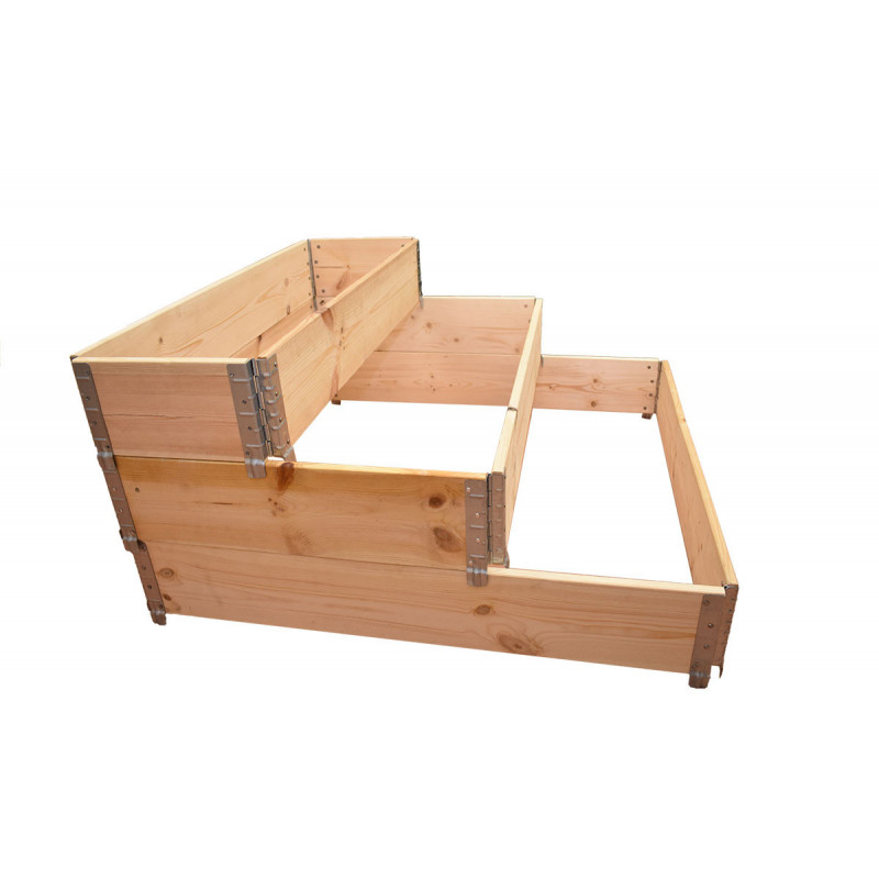 Kitchen garden square natural wood 3 floors 1200 x 1200mm