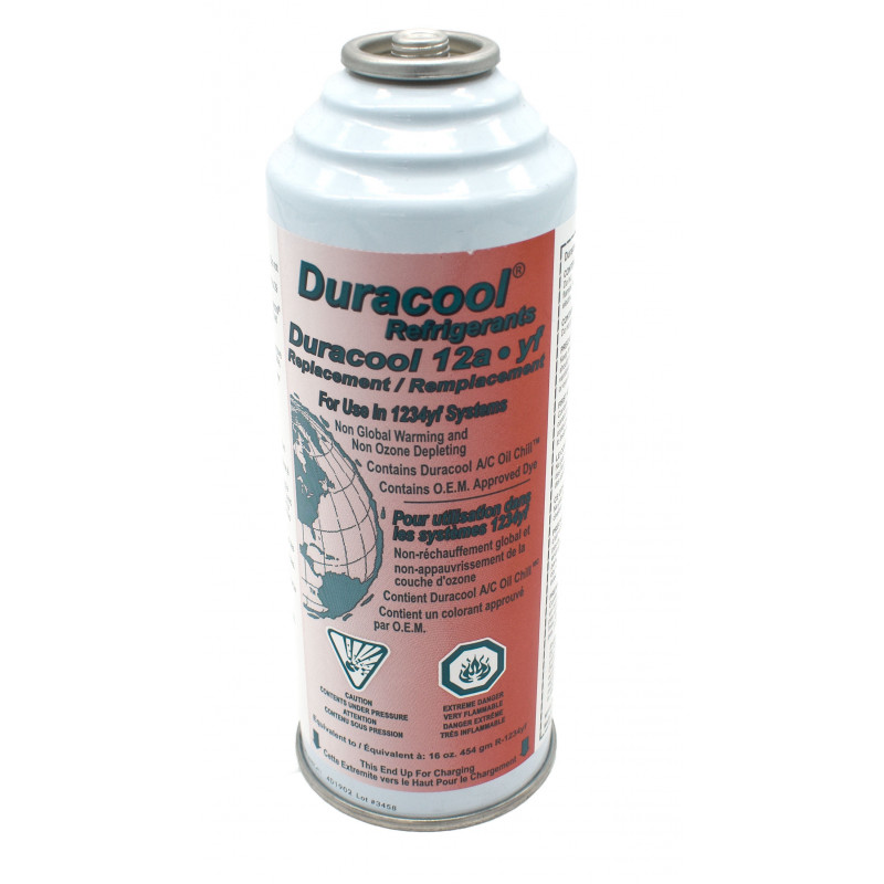 Duracool 12a-yf can, replaces HFO 1234yf refrigerant