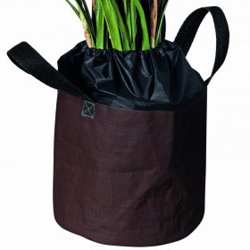Sac de protection contre le gel L Ø 40 x 35 cm marron pour plantes en pots
