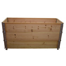 Square vegetable garden in natural wood 1200 x 400mm