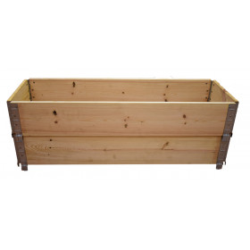 Square vegetable garden in natural wood 1200 x 400mm height 390mm