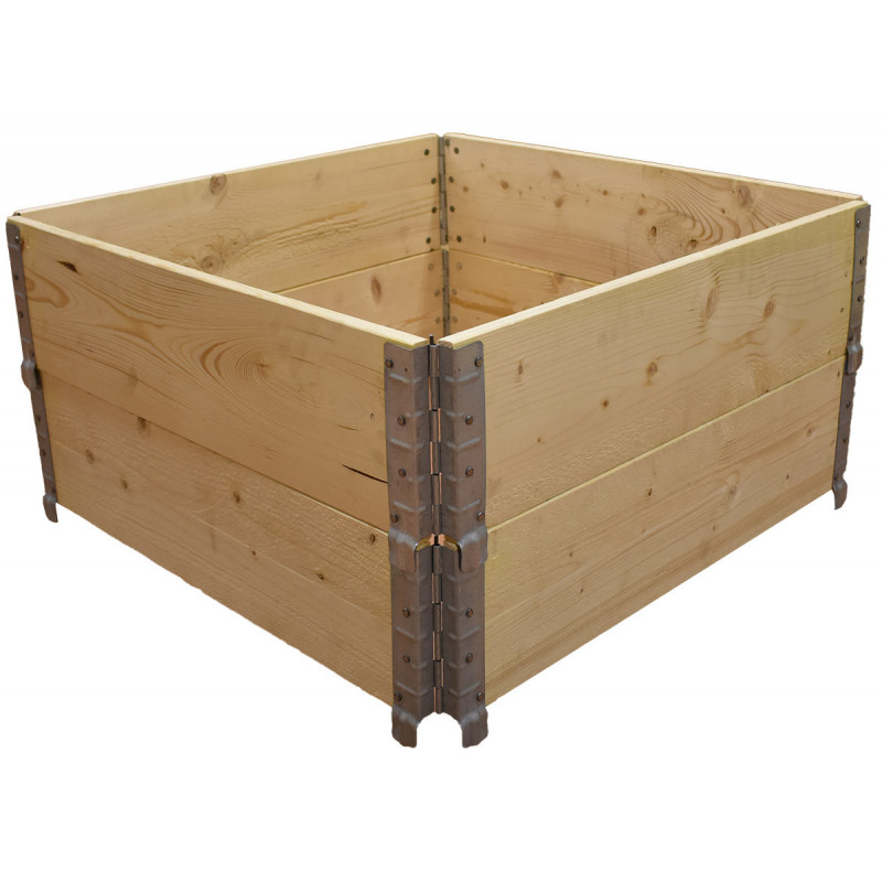 Square vegetable garden in natural wood 1000x1000mm