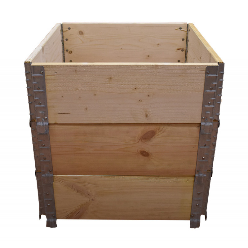 Square vegetable garden in natural wood 600x600mm height 390mm