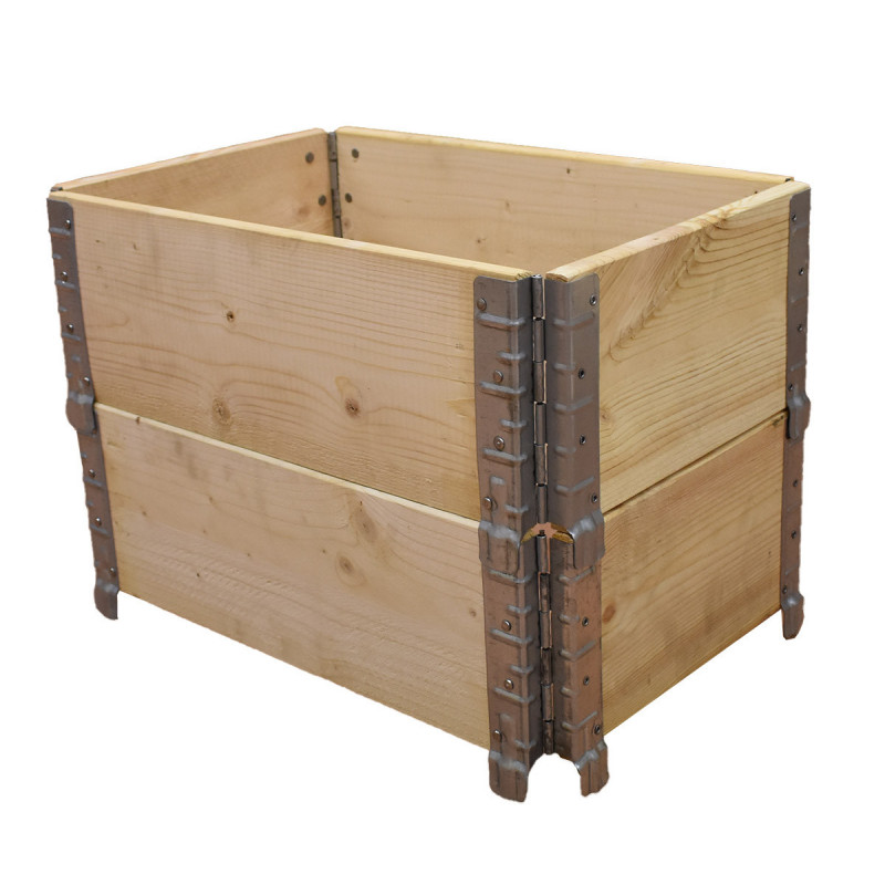 Square vegetable garden in natural wood 600x400mm height 390mm
