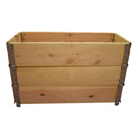 Square vegetable garden in natural wood 1000x400mm height 585mm