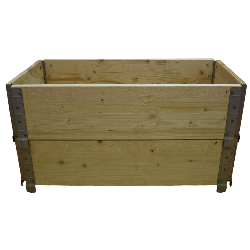 Square vegetable garden in natural wood 800x400mm