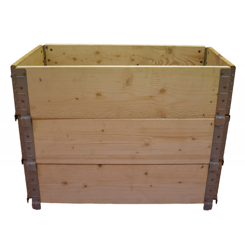 Square vegetable garden in natural wood 800x400mm height 390mm