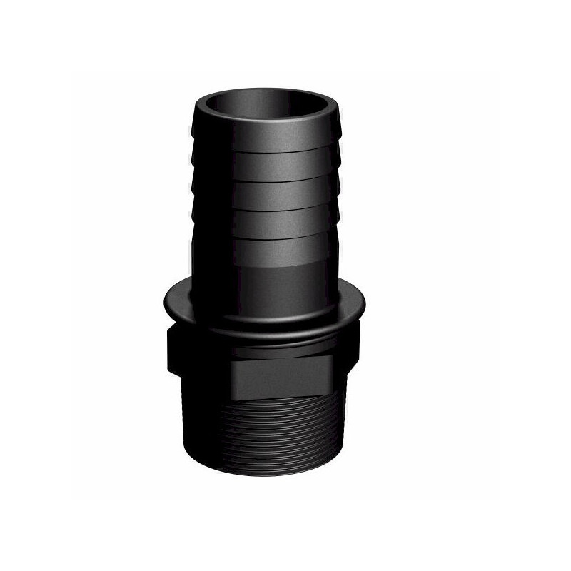 """Product sheet Male coupling 2 """"- straight barbed Ø50mm"""