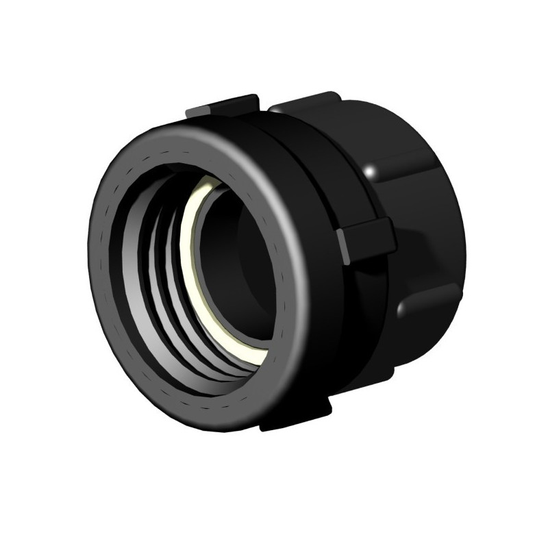 """Product sheet Female connector S60x6 2 """"- female gas thread 2"""""""