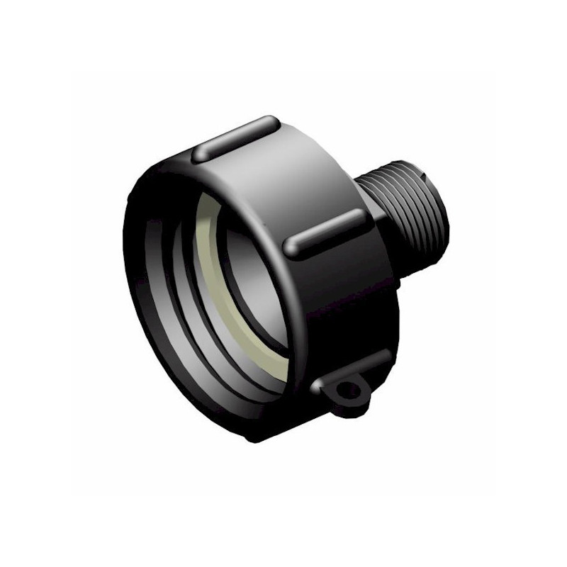 """Product sheet 2 """"female connector S60x6 - male 3/4"""", not gas"""