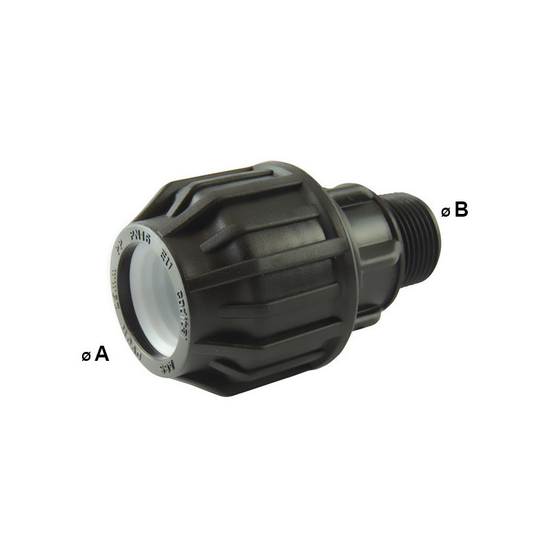 Compression fitting with BSP male thread