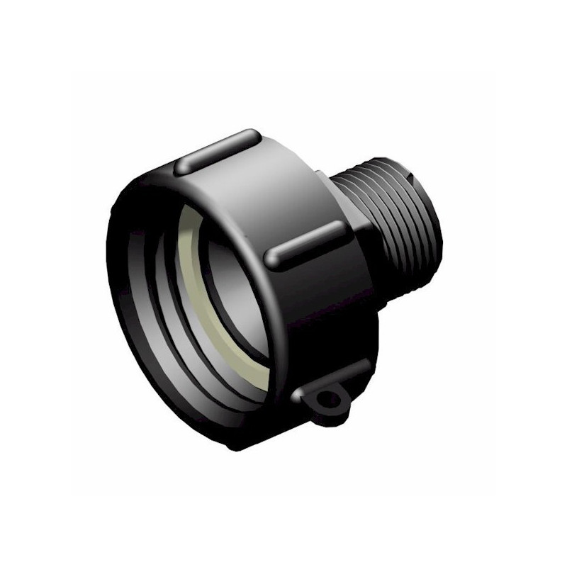 """Product sheet 2 """"S60x6 female connector - male 1"""", not gas"""