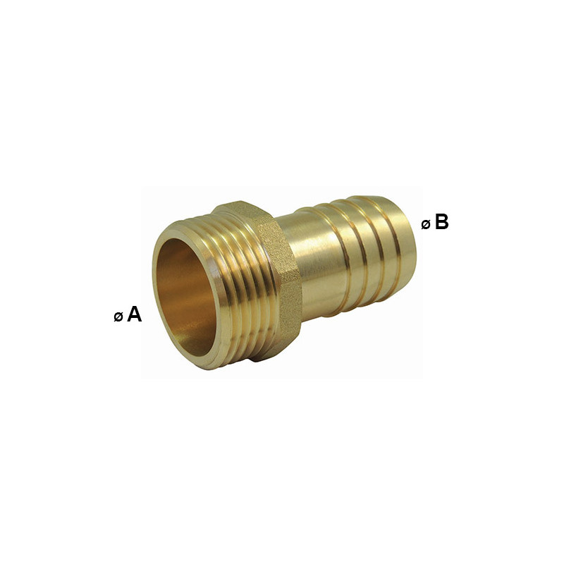 Threaded Male Fitting - Male Male Barbed