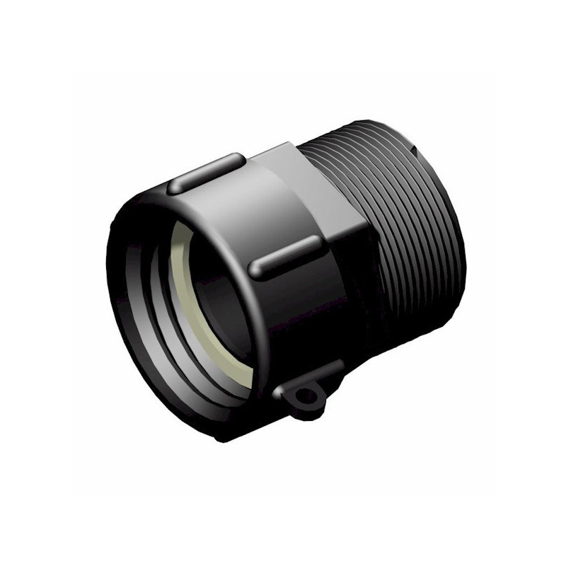 """Product sheet 2 """"S60x6 female connector - male 2"""" gas thread"""