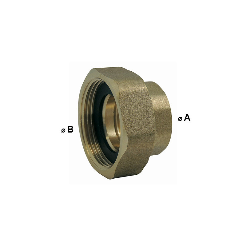 1/2 EPDM flat seal union sold in pairs