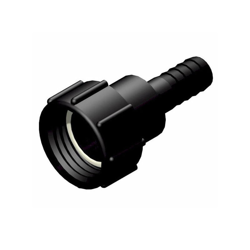 """Product sheet 2 """"female connector S60x6 - straight fluted male Ø 25mm"""