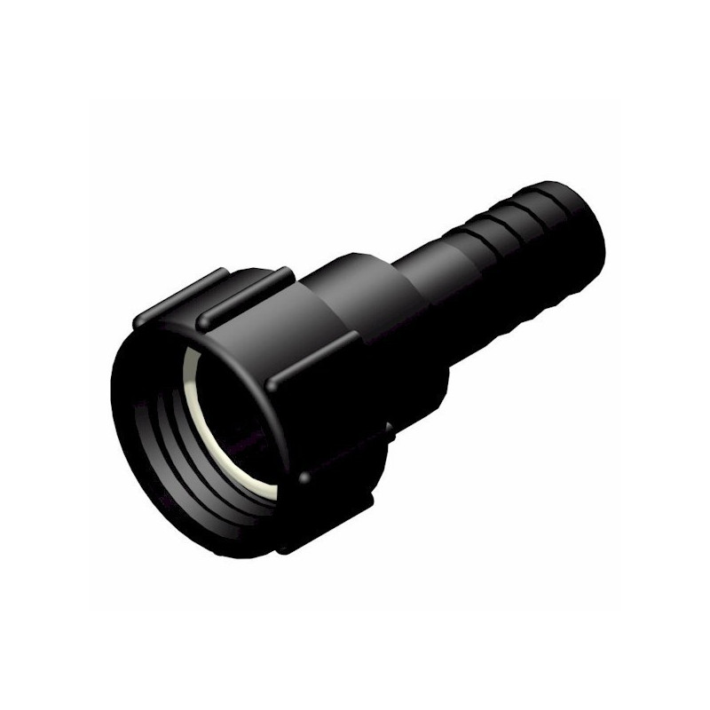 """Product sheet Female connector 2 """"S60x6 - straight fluted male Ø 32mm"""
