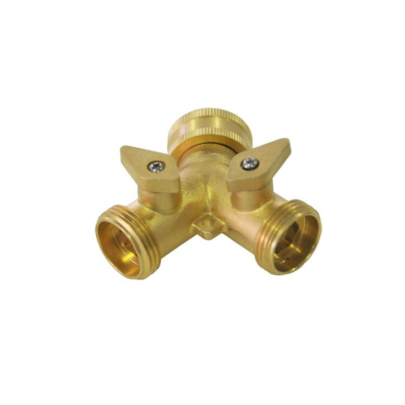 """Product sheet 3/4 """"brass Y-connector"""