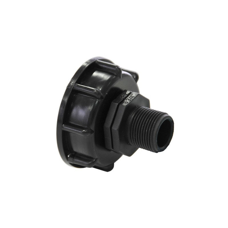 """Product sheet Connection S60x6 with male end 3/4 """"- 20x27"""