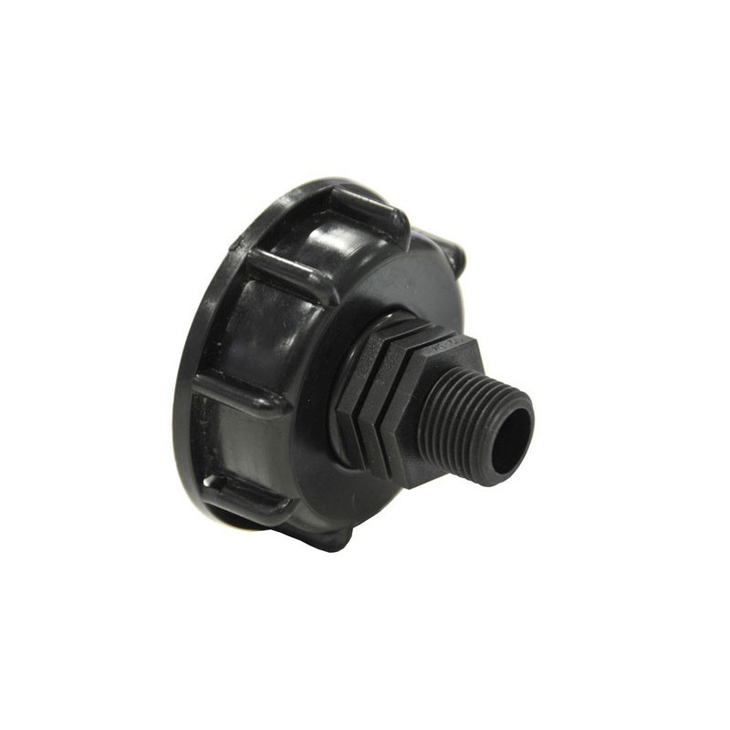 """Product sheet Connection S60x6 with male threaded end 1/2 """"- 15x21"""