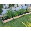 Natural wood vegetable garden square 2000 x 400mm