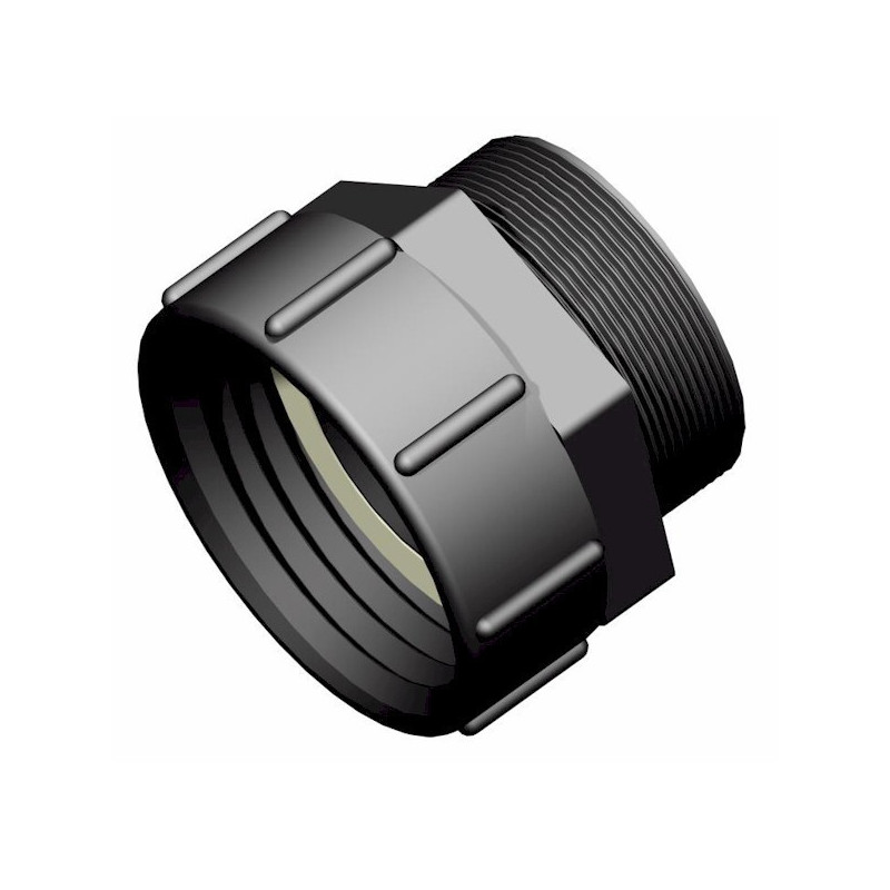 """Product sheet S100x8 female connector - 3 """"BSP male thread"""