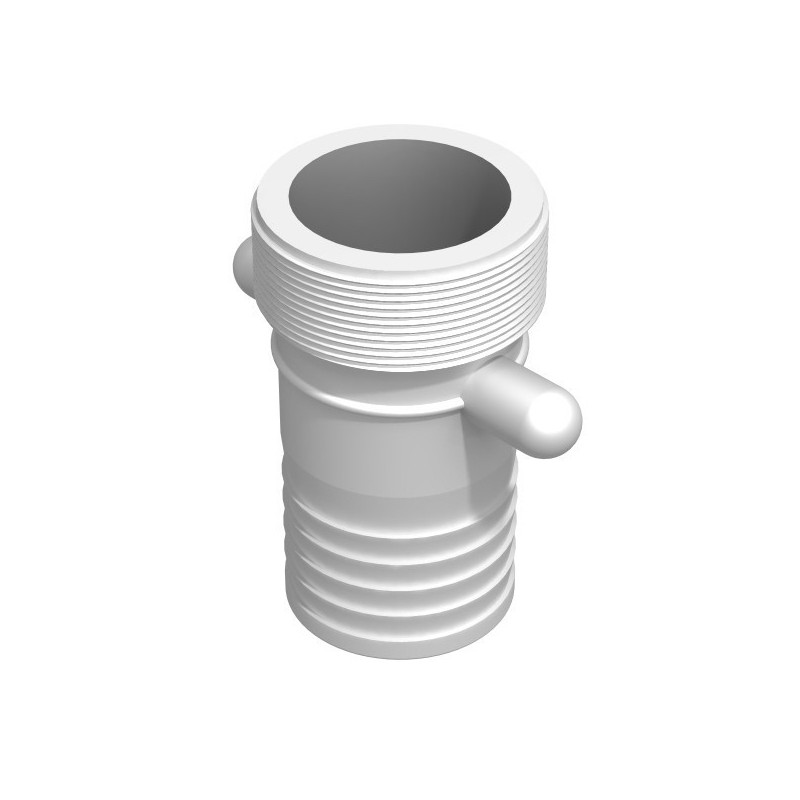 Product sheet Male barbed fitting 2''1 / 2 BSP - straight splined male 63mm